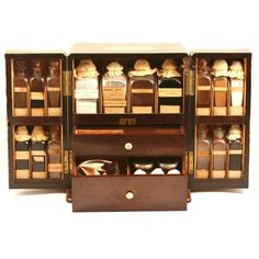 Apothecary Chest - Young Collection (1860) - Medical Antique ❤ liked on Polyvore