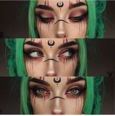 midudrne cosplay felvae inspo make up Make up inspo midudrne felvae You can find Witch makeup looks and more on our website Sfx Makeup, Cosplay Makeup, Costume Makeup, Makeup Art, Beauty Makeup, Makeup Hacks, Demon Makeup, Makeup Ideas, Prom Makeup