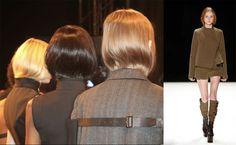 Long hair tucked into high collars to look short at the NYFW Fall 2016 Vera Wa Fashion Photo, Fashion Art, Hair Tuck, Look Short, Ny Fashion Week, Photo Archive, High Collar, Vera Wang, Fall 2016