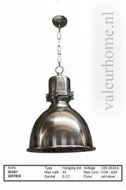 Hanglamp Dipper antiek zilver