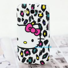 Fashion face Hello Kitty Leopard Case Cover For Samsung Galaxy i9300 S III S3