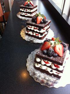 Chocolate Berry Shortcakes.
