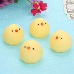 Novelty & Gag Toys Popular Brand 4 Color Novelty Anti Stress Toy Vent Water Polo Creative Transparent Egg Squeeze Hatching Chicks Lazy Egg Stress Relief Toy Reasonable Price Toys & Hobbies