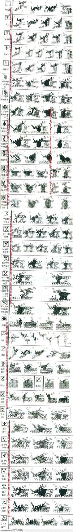Вязание-крючок >Расшифровка китайских схем ... | рукоде…