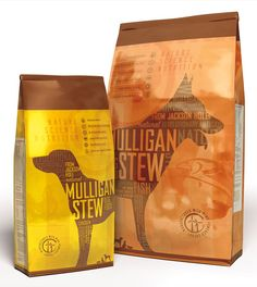 Mulligan Stew natural pet food - who knew pet food could look so good? Just throw in a little typography