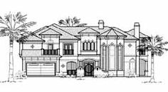 House Plan 61753 - Mediterranean Style House Plan with 4507 Sq Ft, 4 Bed, 4 Bath, 3 Car Garage Tuscan House Plans, Monster House Plans, Mediterranean Style Homes, 3 Car Garage, House Blueprints, Italian Style, My House, Floor Plans, House Design