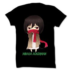 Mikasa Ackerman Black Winter T-shirt