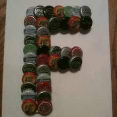 My Bottle Cap letter F that I made :) Love it !!