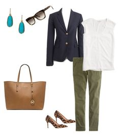 """Untitled #213"" by smag on Polyvore featuring J.Crew, Banana Republic, Michael Kors and Lauren Ralph Lauren"