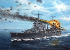 heavy cruiser USS San Francisco struck by a damaged Japanese torpedo bomber while operating off Guadalcanal November 12 Painting by Lukasz Kasperczyk Adolf Galland, Military Diorama, Military Art, Heavy Cruiser, Naval History, Navy Ships, Fighter Aircraft, Aviation Art, Submarines