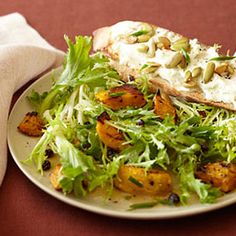 Warm Salad of Kabocha and Goat Cheese With Currants:  A sprinkle of dried currants adds vitamins A and C to this flavorful mix. Get the recipe: | Health.com