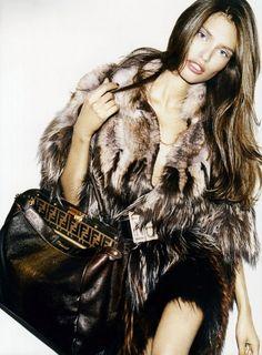 Bianca Balti for Fendi ... Love the Peekaboo bag.  #fendi #handbags