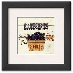 Art.com Blueberries Just Picked Framed Art Print by David Carter Brown ($84) ❤ liked on Polyvore featuring home, home decor, wall art, multicolor, country wall art, country home decor, wooden wall art, wooden home decor and farmhouse home decor