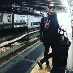 """Malia Jones,"""" Waiting for the #shinkanzen Can'wait to shop in Tokyo"""", apr.30, 2016"""