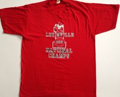 A personal favorite from my Etsy shop https://www.etsy.com/listing/265357406/vintage-1986-louisville-cardinals