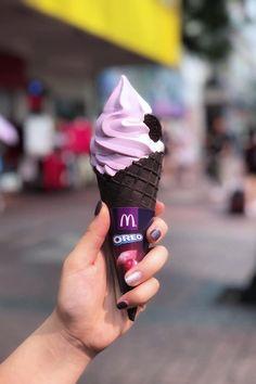 Mcdonalds Ice Cream, Ice Cream Pictures, Mcdonalds Gift Card, Burger King, Mcdonald's Restaurant, Purple Sweet Potatoes, Waffle Cones, Oreo Dessert, Fancy Desserts