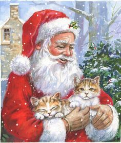 Billede fra http://www.advocate-art.com/community/wp-content/uploads/2011/03/4.46043.512.santa-kittens-jim-mitchell-greetings-card-illustration-advocate-art.jpg.