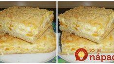 Sypaný ovocný koláč: Netreba naň robiť žiadne cesto – len nasypte na plech a zalejte pudingom!