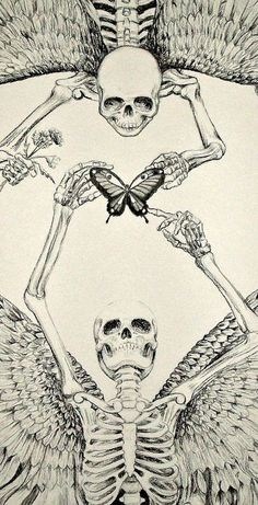 Trippy Wallpaper, Iphone Background Wallpaper, Aesthetic Iphone Wallpaper, Aesthetic Wallpapers, Dark Art Illustrations, Dark Art Drawings, Art Drawings Sketches, Illustration Art, Skeleton Art