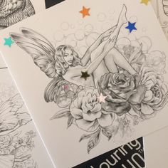 Colouring Card - Magical Fairies Combo 5 for 4
