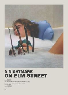 Movie Posters - A Nightmare on Elm Street Minimal Movie Poster -Minimal Movie Posters - A Nightmare on Elm Street Minimal Movie Poster - Iconic Movie Posters, Minimal Movie Posters, Horror Movie Posters, Cinema Posters, Movie Poster Art, Iconic Movies, 80s Posters, Classic Horror Movies, Kino Movie