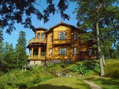Laajasalon huvilat Helsinki, Villa, Architecture, My Dream Home, Hearth, House Styles, Places, Garden, Houses