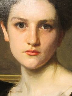 Close -up of Elizabeth Winthrop Chandler by John Singer Sargent, 1893 (BEAUTIFUL!)