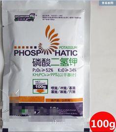 Envío libre, 200 g/lote, fertilizantes de fosfato dihidrógeno de Potasio fertilizante de potasa de fertilizantes foliares verduras hierbas, flor