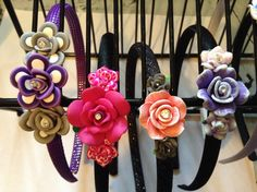 9mm headbands with polymer flowers