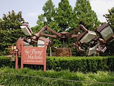 Flying Machine Spinning Ride | Busch Gardens Williamsburg