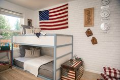 Kids Space Boys Americana Room - Nesting With Grace