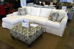Christian Street Furniture | I like the color of sofa & ottoman but not the style of the sofa.