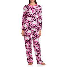 5f08bcd192 Women s   Women s Plus Giftable Character Long Sleeve and Pant PJ Set -  Walmart.com