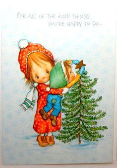 Vintage Hallmark Betsy Clark Christmas card