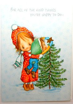 Vintage Hallmark Betsey Clark Christmas card