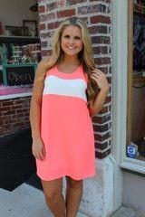 Melt Your Popsicle Dress - Neon Orange
