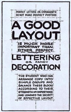 @Adobe Muse: On poster design... from Ross F. George's Speedball Text Book (published in 1935 by Hunt Pen Co).