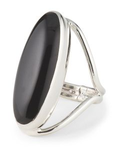 image of Made In Mexico Sterling Silver Onyx Ring