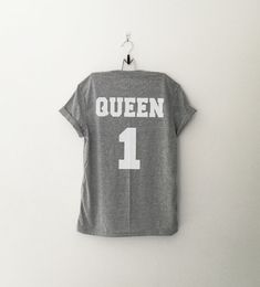 Queen 1 tshirt graphic tee for women hipster jersey by CozyGal