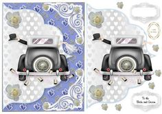 the wedding car on Craftsuprint designed by Heather Howes - a lovely sheet for that special day - Now available for download!