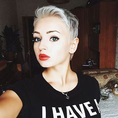 very short haircut for women -pixie cut