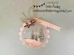 Holiday Extravaganza Project #7 :: Confessions of a Stamping Addict Lorri Heiling Christmas Bauble Ornament Stampin' Up Happy Scenes