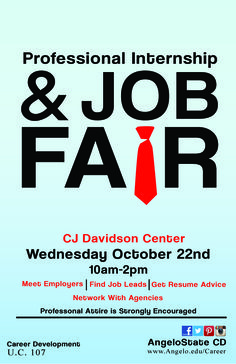professional internship job fair career development flyer