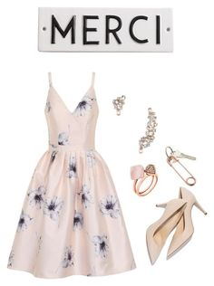 """Untitled #14"" by ahessah on Polyvore featuring Chi Chi, M. Gemi, Rosanna, Michael Kors, Marchesa and CB2"