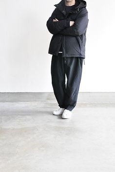 NO CONTROL AIR  Wool Seeting Easy Pants (Black) ...