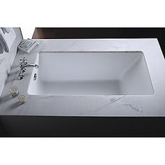 Kallista: Perfect Small Rectangular Bathtub: P50047-00 60lx32wx22h $1,695 retail (undermount as pictuered or drop-in) acrylic in stucco white