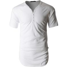 LE3NO PREMIUM Mens Lightweight Short Sleeve Crewneck Henley Shirt (64 BRL) ❤ liked on Polyvore featuring men's fashion, men's clothing, men's shirts, men's casual shirts, men, tops, shirts, guys, menswear and mens henley shirts