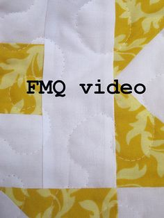 free motion quilt video