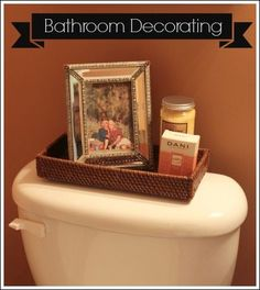 Find a narrow basket to place on the back   of the toilet, and fill it with bathroom accessories for added elegance.   Apartment Decorating Ideas That Are Straightforward and Easy!