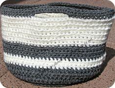 A crochet basket- how fun